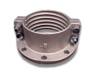 Brida partida de aluminio